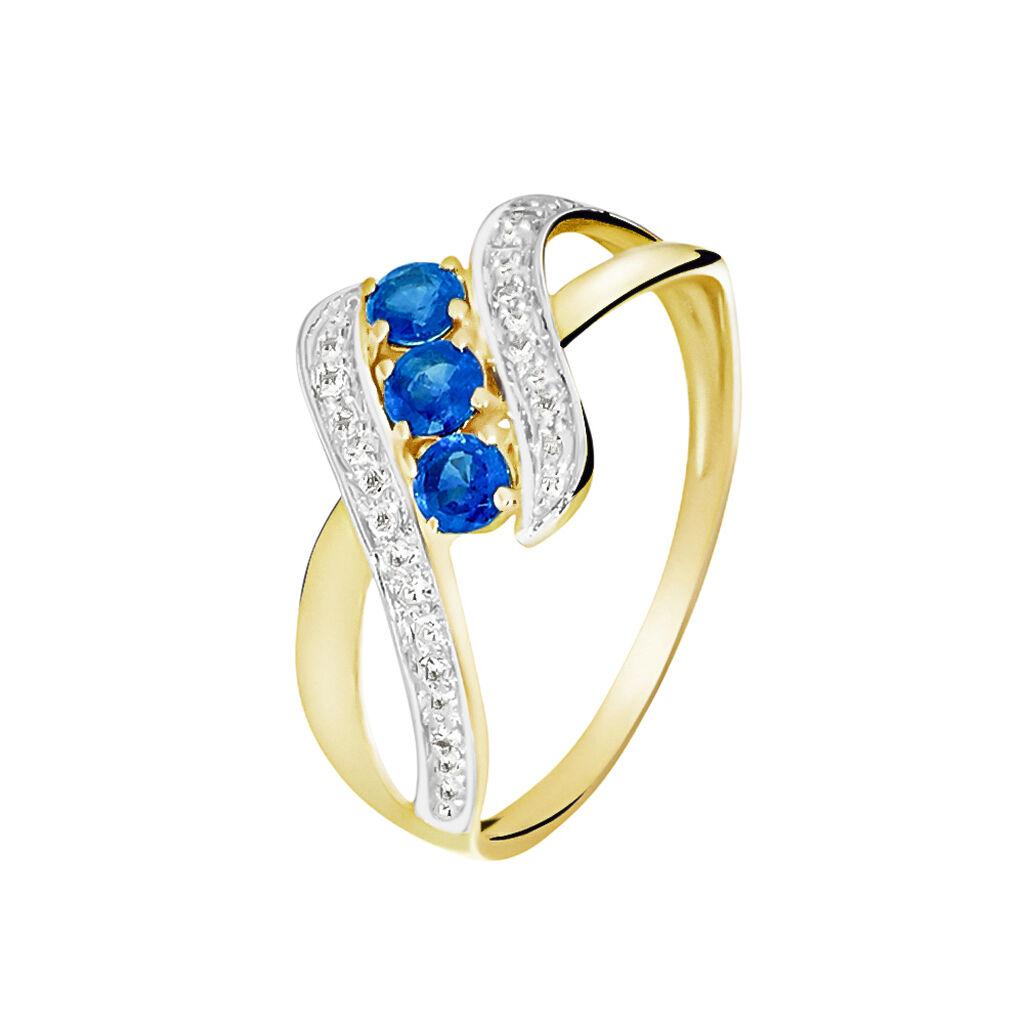 Bague Simma Or Jaune Saphir Et Diamant - Bagues avec pierre Femme | Histoire d'Or