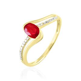 Bague Anja Or Jaune Rubis Et Diamant - Bagues solitaires Femme | Histoire d'Or