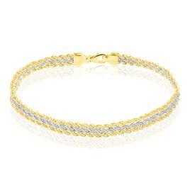 Bracelet Jerry Or Bicolore Maille Corde - Bracelets chaîne Femme | Histoire d'Or