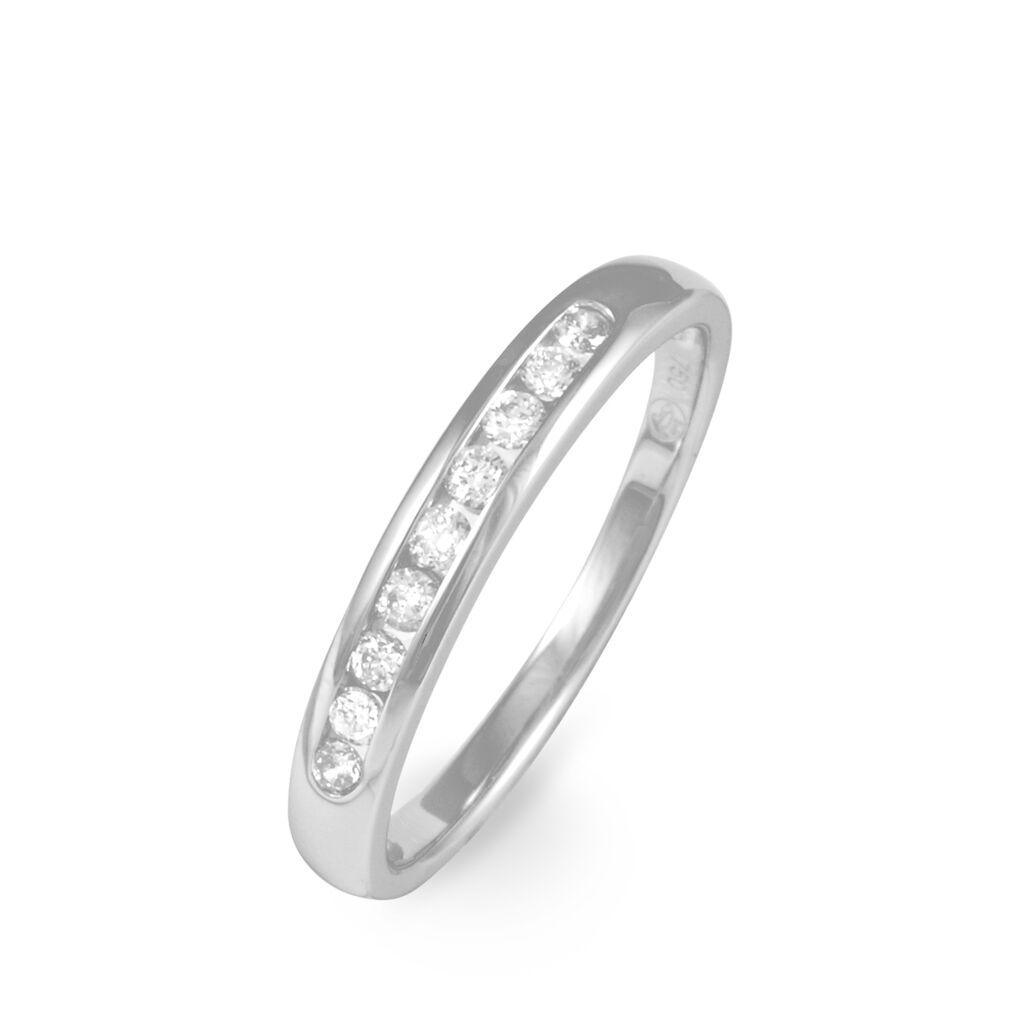 Alliance Giulia Platine Blanc Diamant - Alliances Femme   Histoire d'Or