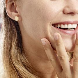 Boucles D'oreilles Puces Maggi Plaque Or Jaune - Boucles d'oreilles fantaisie Femme | Histoire d'Or