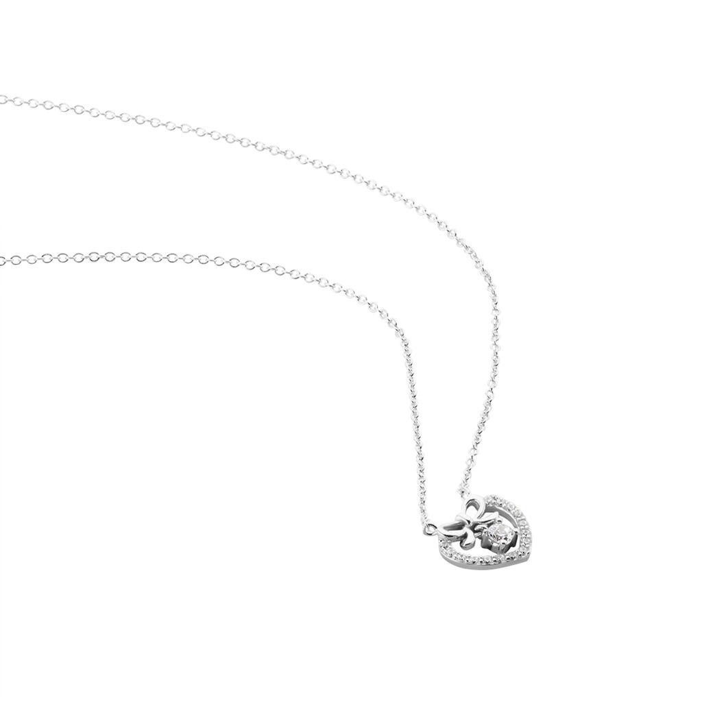 Bracelet Meliha Argent Blanc Oxyde De Zirconium - Bracelets Coeur Femme   Histoire d'Or