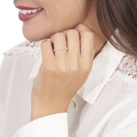 Bague Abby-gaelle Or Blanc Oxyde De Zirconium - Bagues avec pierre Femme   Histoire d'Or