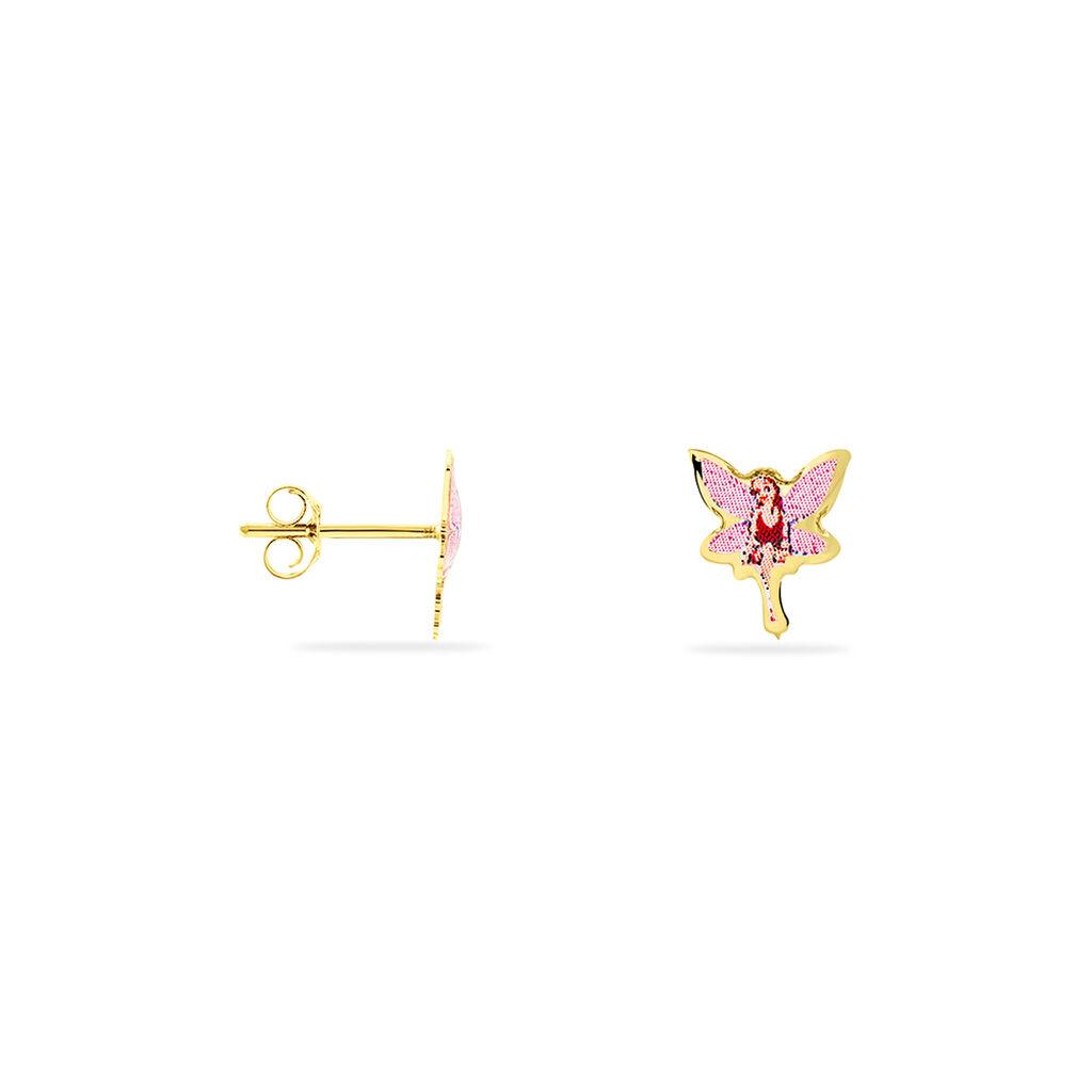 Boucles D'oreilles Puces Feerie Or Jaune - Clous d'oreilles Enfant | Histoire d'Or