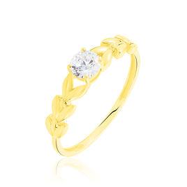Bague Solitaire Alexine Or Jaune Oxyde De Zirconium - Bagues avec pierre Femme   Histoire d'Or