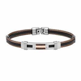 Bracelet Corelieae Or Acier Bicolore - Bijoux Homme   Histoire d'Or