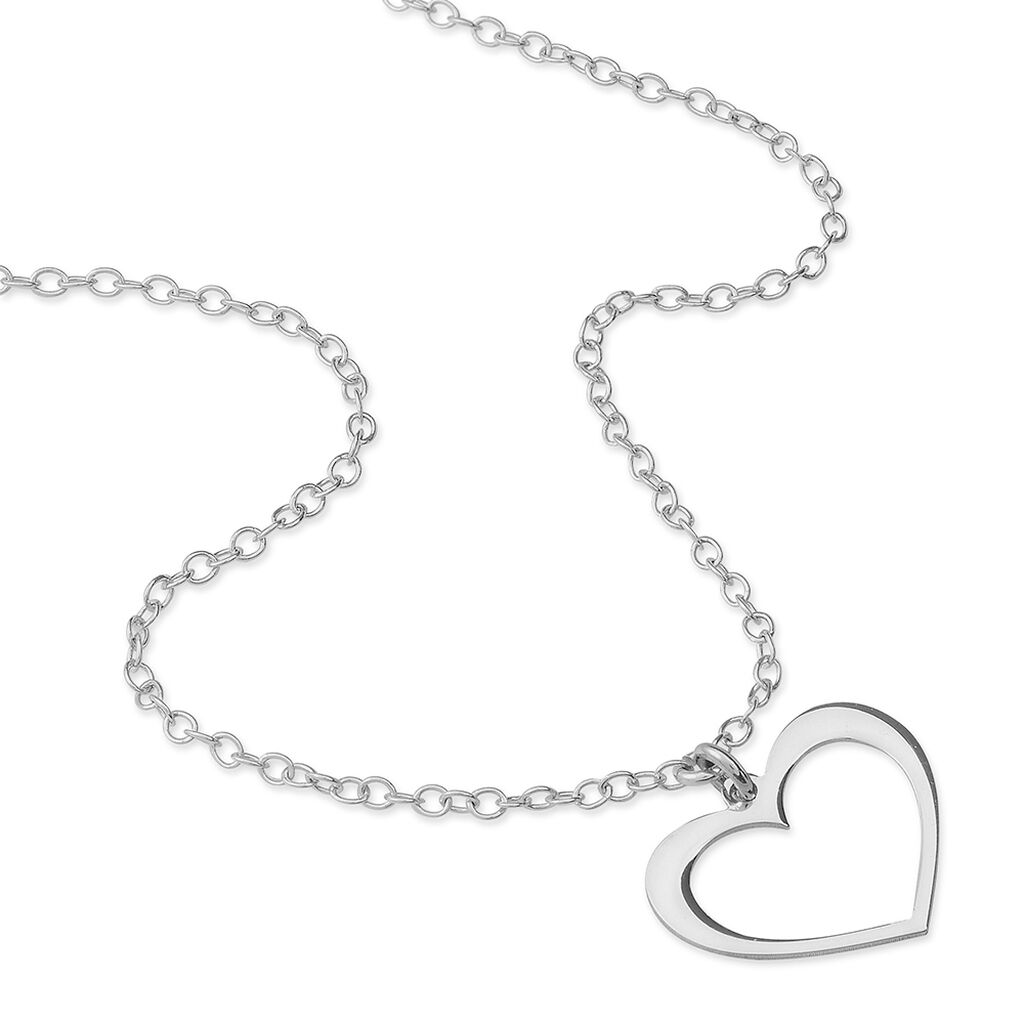 Collier Cosima Argent Blanc - Colliers Coeur Femme | Histoire d'Or