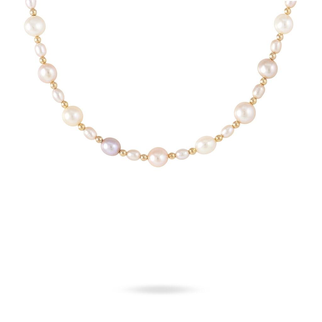Collier Houne Or Jaune Perle De Culture - Sautoirs Femme   Histoire d'Or