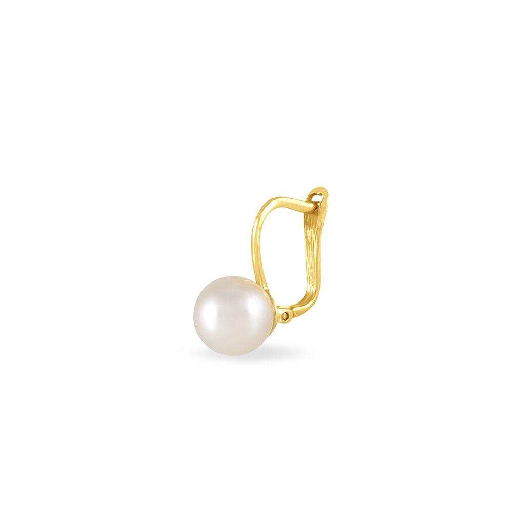 Boucles D'oreilles Pendantes Akoya Or Jaune Perle De Culture D'akoya - Boucles d'oreilles pendantes Femme   Histoire d'Or