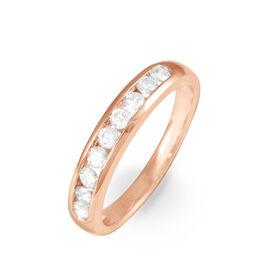 Alliance Giulia Or Rose Diamant - Alliances Femme | Histoire d'Or