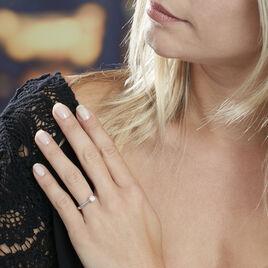 Bague Solitaire Fiona Or Blanc Diamant Synthetique - Bagues solitaires Femme   Histoire d'Or