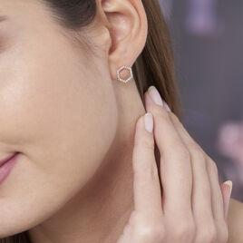 Boucles D'oreilles Pendantes Maria-concetta Plaque Or Oxyde - Boucles d'oreilles fantaisie Femme | Histoire d'Or