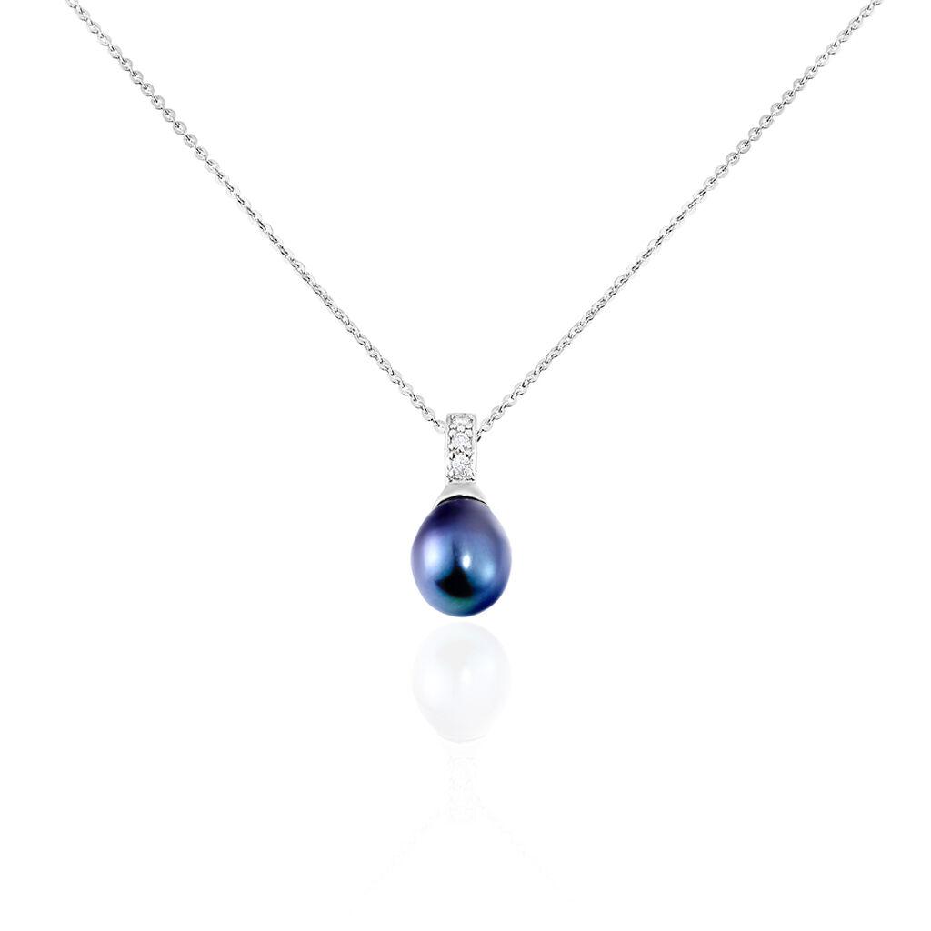 Collier Sara-luna Argent Blanc Perle De Culture Et Oxyde De Zirconium - Colliers fantaisie Femme   Histoire d'Or