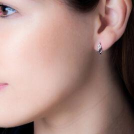 Boucles D'oreilles Puces Anita Or Blanc Diamant - Clous d'oreilles Femme | Histoire d'Or