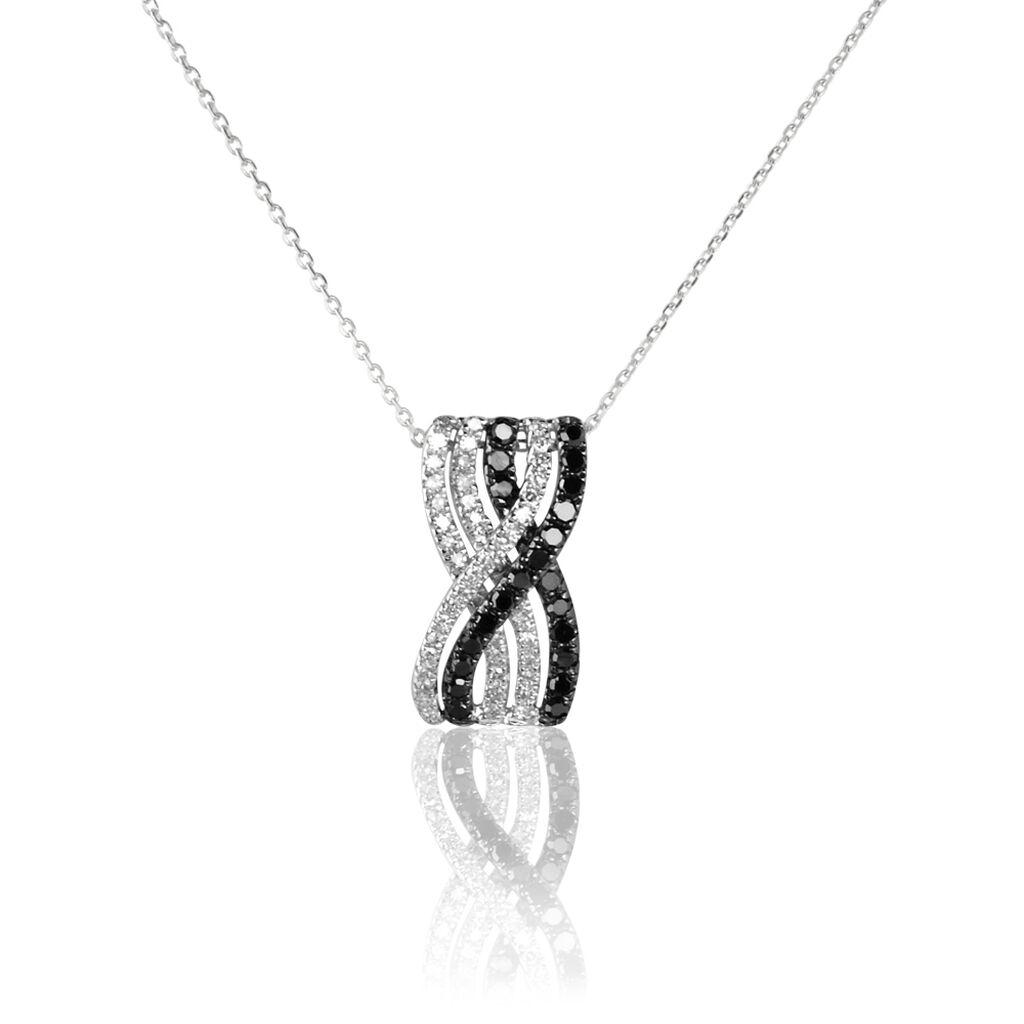 Collier Julianne Or Blanc Diamant - Bijoux Femme | Histoire d'Or