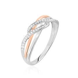 Bague Zinna Or Bicolore Diamant - Bagues avec pierre Femme | Histoire d'Or