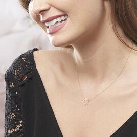 Collier Estello Or Bicolore Cœurs 42cm - Bijoux Femme | Histoire d'Or