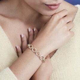 Bracelet Aaron Maille Fantaisie Or Jaune - Bijoux Femme   Histoire d'Or