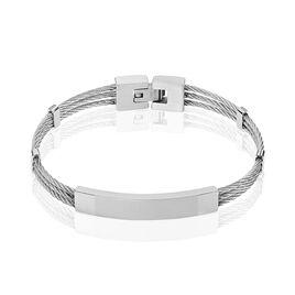Bracelet Raphael Acier Blanc - Bracelets fantaisie Homme | Histoire d'Or