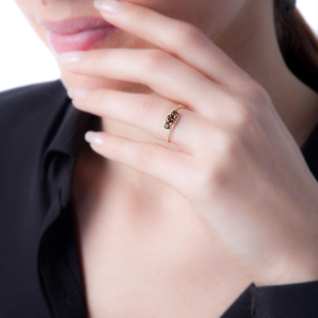 Bague Chloe Or Jaune Péridot Et Diamant - Bagues avec pierre Femme   Histoire d'Or