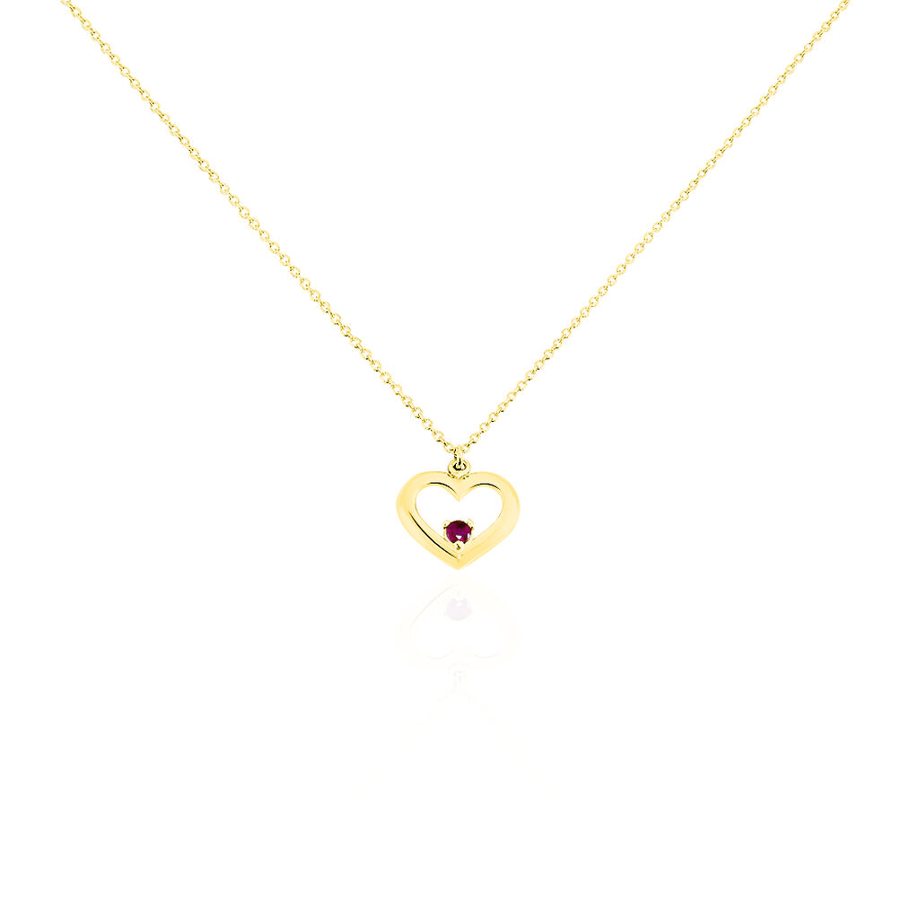 Collier Martella Or Jaune Rubis - Colliers Coeur Femme | Histoire d'Or
