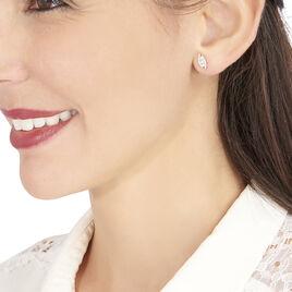 Boucles D'oreilles Puces Eternite Or Blanc Diamant - Clous d'oreilles Femme | Histoire d'Or