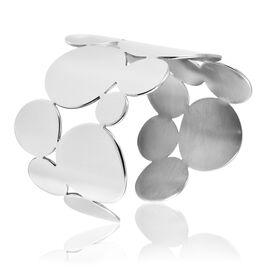 Bracelet Manchette Acier Gipsy Pastilles - Bracelets fantaisie Femme | Histoire d'Or