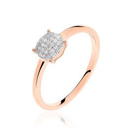 Bague Princesse Or Rose Diamant - Bagues avec pierre Femme | Histoire d'Or