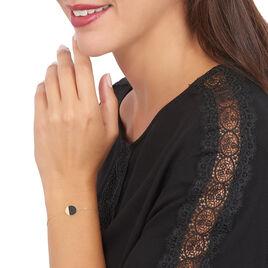 Bracelet Or Jaune Guenia Pastille Onyx - Bijoux Femme | Histoire d'Or