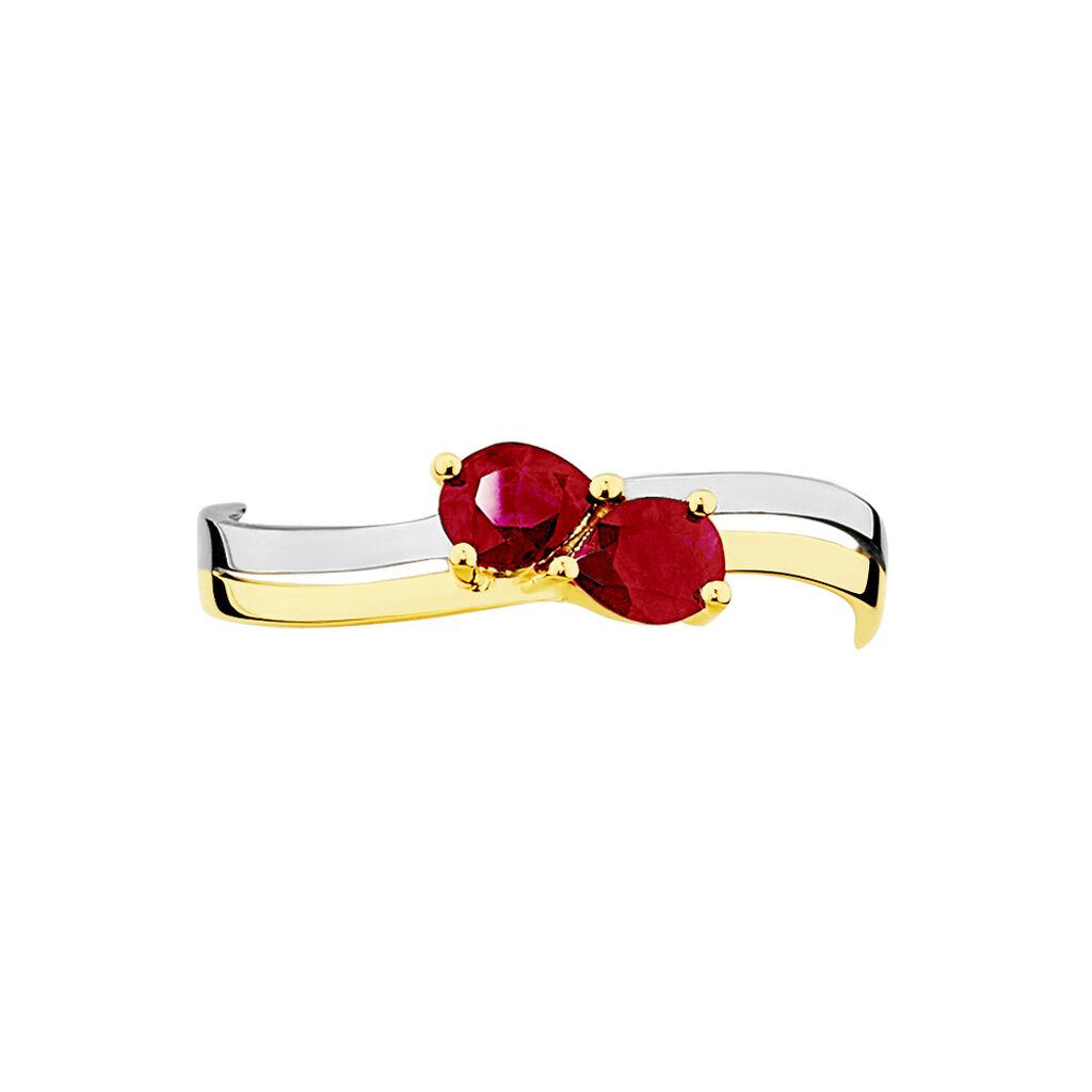 Bague Leila Or Bicolore Rubis - Bagues avec pierre Femme | Histoire d'Or