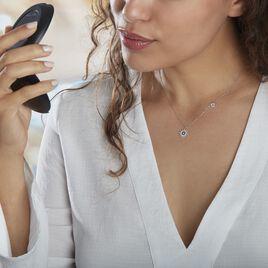 Collier Bekhta Or Blanc Oxyde De Zirconium - Colliers Etoile Femme   Histoire d'Or