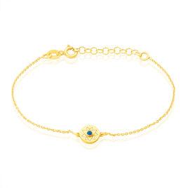 Bracelet Anaise Argent Jaune Pierre De Synthese - Bijoux Etoile Femme   Histoire d'Or