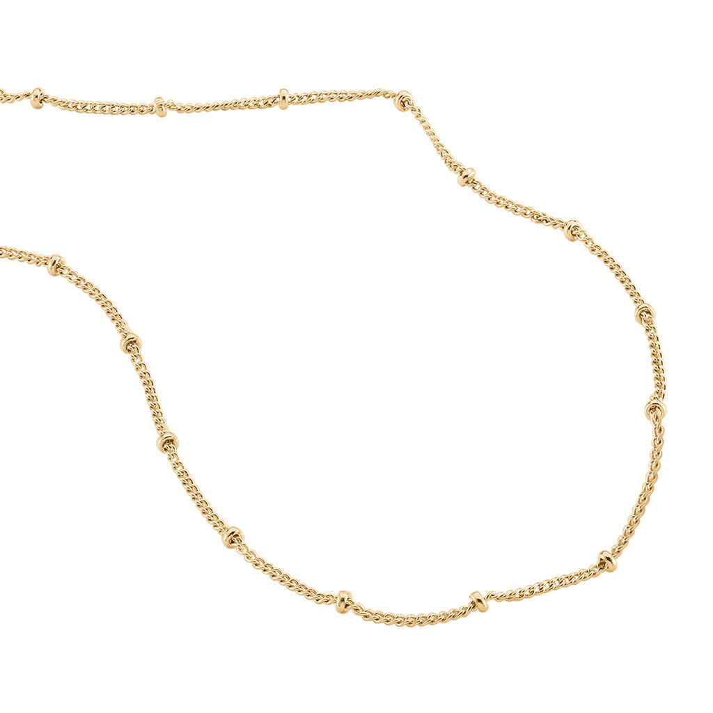 Collier Liza Maille Boules Plaque Or Jaune