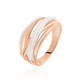 Bague Elodea Or Rose Diamant - Bagues avec pierre Femme | Histoire d'Or