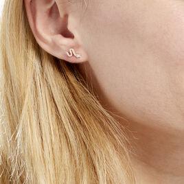 Boucles D'oreilles Pendantes Dorilis Or Jaune Oxyde De Zirconium - Boucles d'oreilles pendantes Femme   Histoire d'Or