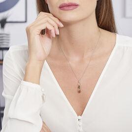 Collier Agneta Argent Blanc Ambre - Colliers fantaisie Femme   Histoire d'Or