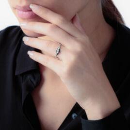 Bague Sculptural Or Blanc Diamant - Bagues avec pierre Femme | Histoire d'Or