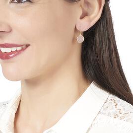 Boucles D'oreilles Puces Cemre Or Jaune Calcedoine - Clous d'oreilles Femme | Histoire d'Or