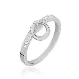 Bague Molly Or Blanc Diamant - Bagues avec pierre Femme | Histoire d'Or