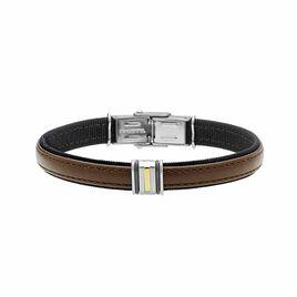 Bracelet Luciene Or Acier Bicolore - Bracelets fantaisie Homme   Histoire d'Or