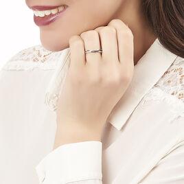 Bague Laurye Argent Blanc Oxyde De Zirconium - Bagues avec pierre Femme   Histoire d'Or