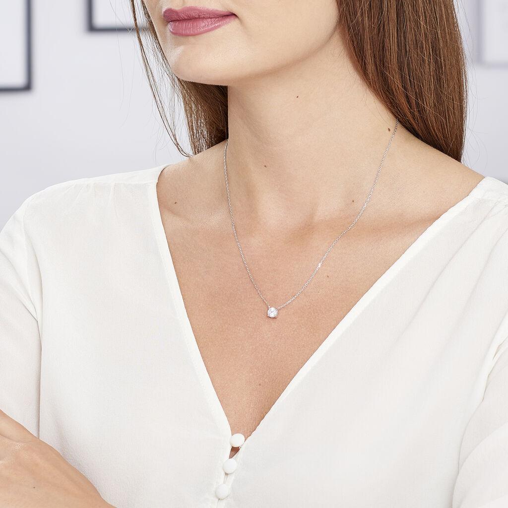 Collier Kariane Argent Blanc Oxyde De Zirconium - Colliers fantaisie Femme | Histoire d'Or