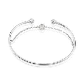 Bracelet Jonc Elodie-marie Argent Blanc Oxyde De Zirconium - Bracelets fantaisie Femme   Histoire d'Or