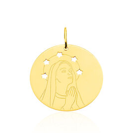 Pendentif Vierge Rond Or Jaune - Pendentifs Etoile Famille | Histoire d'Or