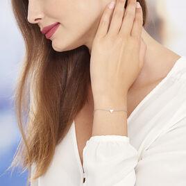 Bracelet Trilia Argent Blanc - Bracelets fantaisie Femme | Histoire d'Or