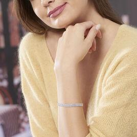 Bracelet Anthia Argent Blanc Oxyde De Zirconium - Bijoux Femme | Histoire d'Or