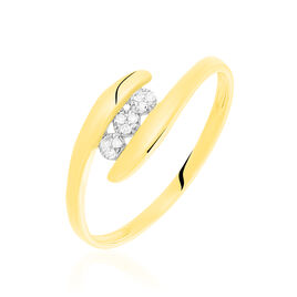 Bague Delphine Or Jaune Diamant - Bagues avec pierre Femme | Histoire d'Or