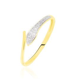 Bague Cateline Or Jaune Diamant - Bagues avec pierre Femme | Histoire d'Or