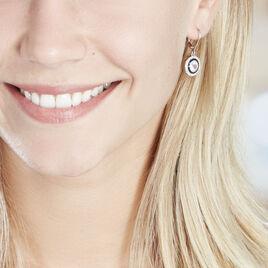 Boucles D'oreilles Pendantes Aliou Argent Blanc Oxyde De Zirconium - Boucles d'oreilles pendantes Femme | Histoire d'Or