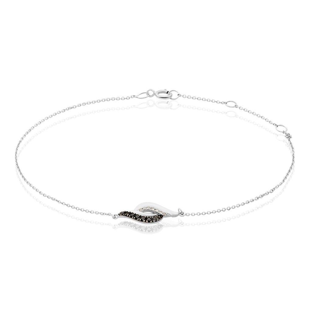 Bracelet Sculptural Or Blanc Diamant - Bijoux Femme | Histoire d'Or